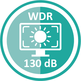130dB Wide Dynamic Range (WDR) Icon